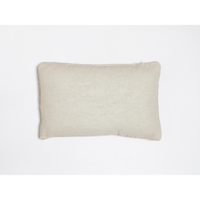 COUSSIN Coussin déco 30x50 cm en coton PANAMA écru