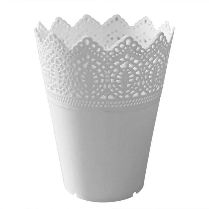 JARDINIÈRE - BAC A FLEUR Vase dentelle en plastique pot de fleurs pot usine