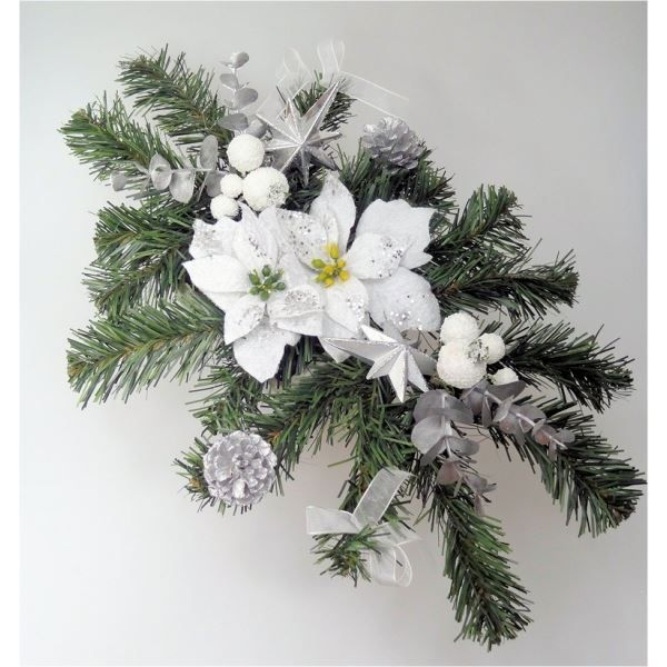 Cr ation florale artificielle centre de table achat for Decoration florale noel