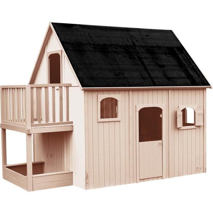 MAISONNETTE EXTÉRIEURE Cabane en bois pour enfant  DUPLEX