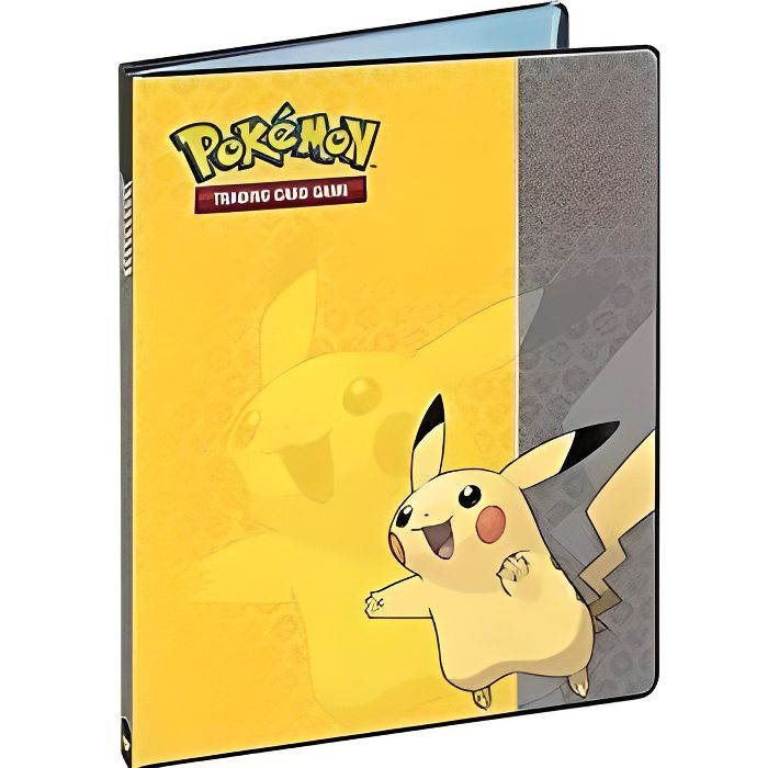 pok mon portfolio a4 pour 180 cartes pikachu achat. Black Bedroom Furniture Sets. Home Design Ideas