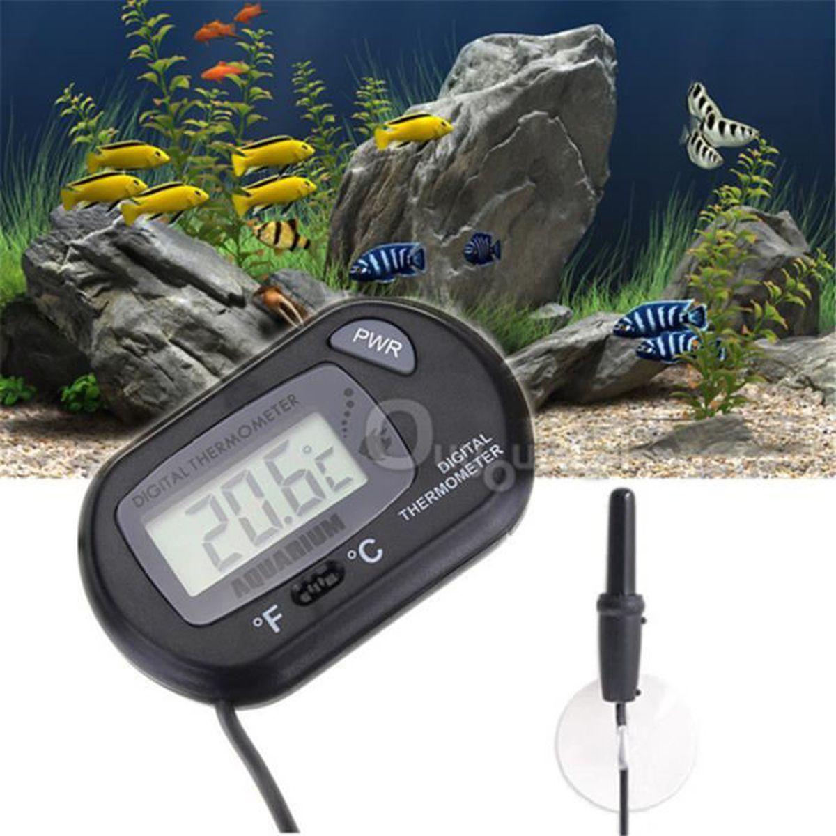 FACILLA/® LCD Thermom/ètre Thermometer Digital Pr/écision 1/°C pour Aquarium Poisson