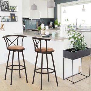 TABOURET DE BAR FurnitureR Lot de 2 Tabouret de Bar Chaise de Bar
