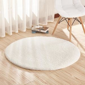 tapis rond blanc achat vente tapis rond blanc pas cher cdiscount. Black Bedroom Furniture Sets. Home Design Ideas
