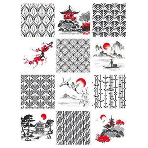 Greedfood Sticker Carreaux de Ciment Adh/ésif Carrelage 12 pi/èces 10 x 10 cm