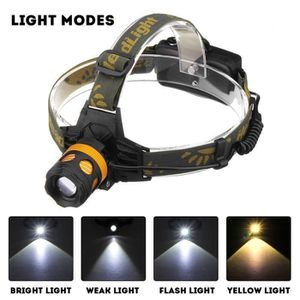 Naliovker COB LED Lampe Frontale Phare 3 Modes T/ête /éTanche /à La Pluie Torche T/ête Lampe De Poche pour Camping en Plein Air P/êche Rouge