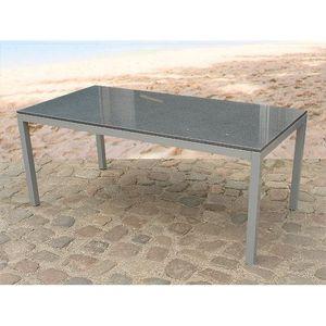 Table de jardin aluminium - plateau granit 180 cm - Torino ...