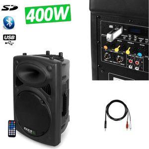 ENCEINTE ET RETOUR Enceinte amplifiée DJ SONO Mobile 400W IBIZA SOUND