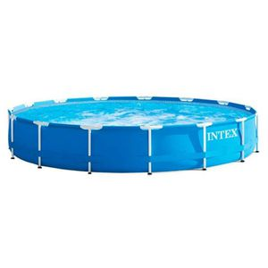 PISCINE Intex piscine Metal Frame Ø457 x 84 cm bleu