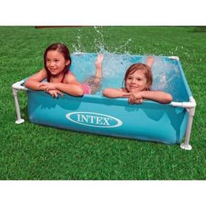 PISCINE Piscine Intex METAL FRAME JUNIOR 1.22x1.22x0.30m b