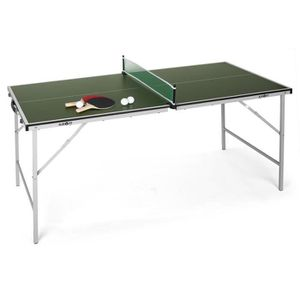 TABLE TENNIS DE TABLE Klarfit Mini table de ping-pong pliable -verte