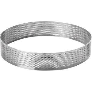 CERCLE - CERCEAU AERIEN Cercle à tarte perforé D : 24cm - inox