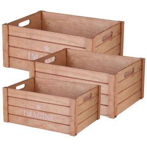 BOITE DE RANGEMENT Lot De 3 Cagette Boite De Rangement Design Cageot