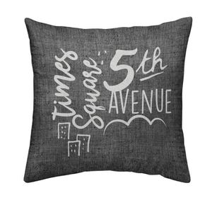COUSSIN TODAY Coussin déhoussable Chambray Coton 5TH AVENU