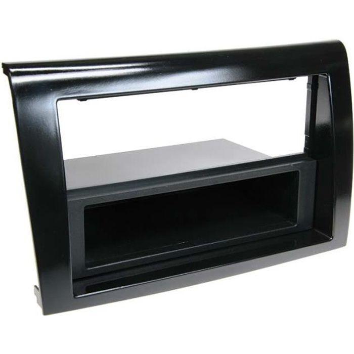 Adaptateur de façade 2-DIN avec vide poche FIAT Bravo 2007 > noir piano