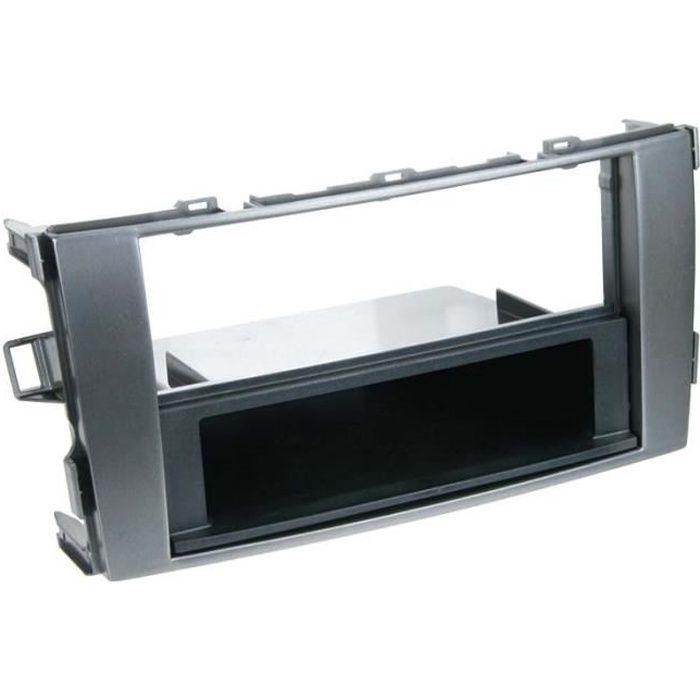 Adaptateur de façade 2-DIN avec vide poche Toyota Auris 2007 > anthracite