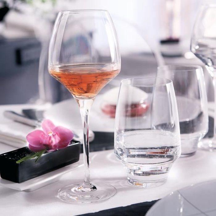 6 verres à vin rouge 55cl Open Up - Chef&Sommelier - Cristallin design original 30% plus résistant