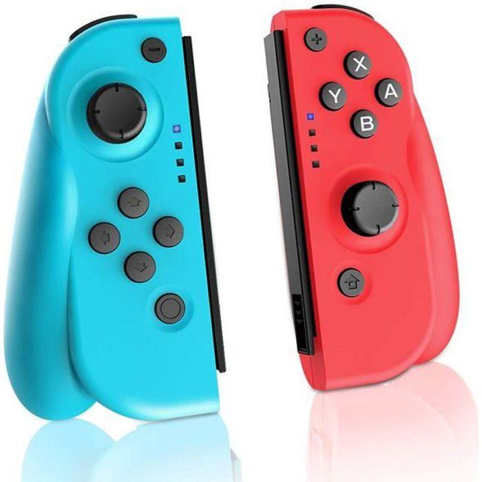 Manette sans Fil pour Nintendo Switch, Paire de 2 manettes de Remplacement Joy Con Gauche Droite Manette de Jeu sans Fil Bluetooth.