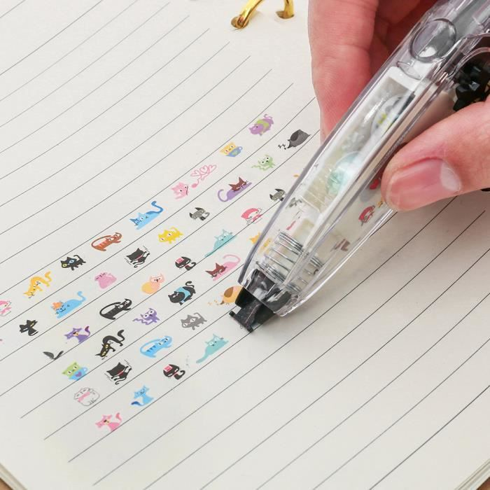 Fournitures scolaires de dentelle de bande de correction de poussée de papeterie créative b581