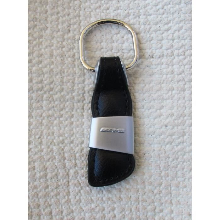 Porte clés AMG en Cuir véritable Deluxe Noir mercedes Porte-clés Clef clé clefs Logo …