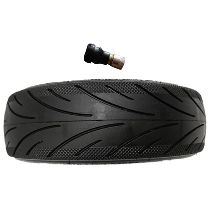 Aucun pneu anti-explosion de gonflage Compatible pour Ninebot Max G30 60-70-6.5 pneu à vide noir avec Valve [B0AFB2F]