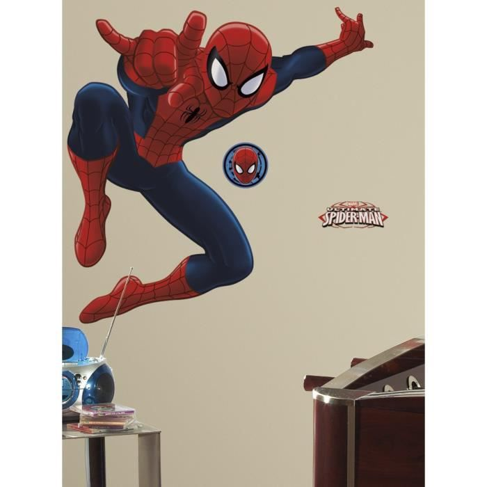 SPIDERMAN Sticker Décoratif Géant 134,62 x 86,35 cm Room Studio