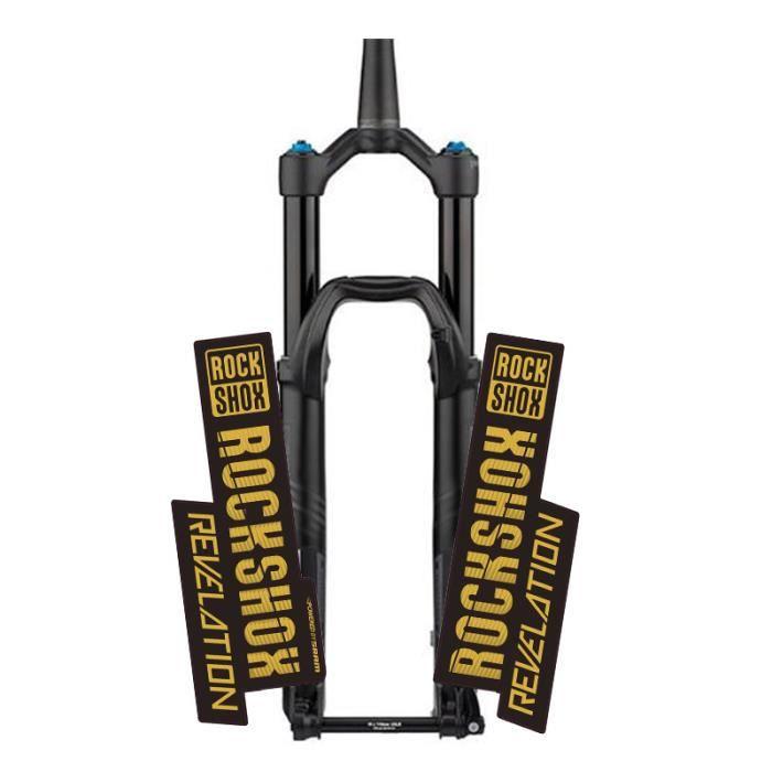ROCKSHOX révélation VTT avant fourche autocollant vtt fourche décalque vélo accessoires - Modèle: Gold - UOZXCTZA01857