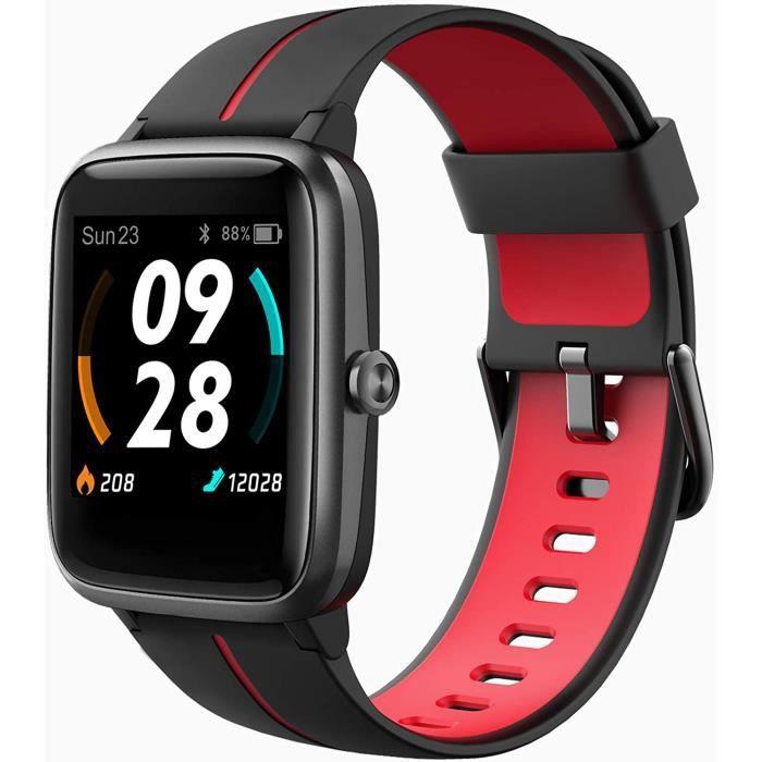 Montre Connectée GPS Femme, Smartwatch Montre Sport Podometre Cardiofrequencemètre Etanche 5ATM Natation Courir Montre Intelli[240]