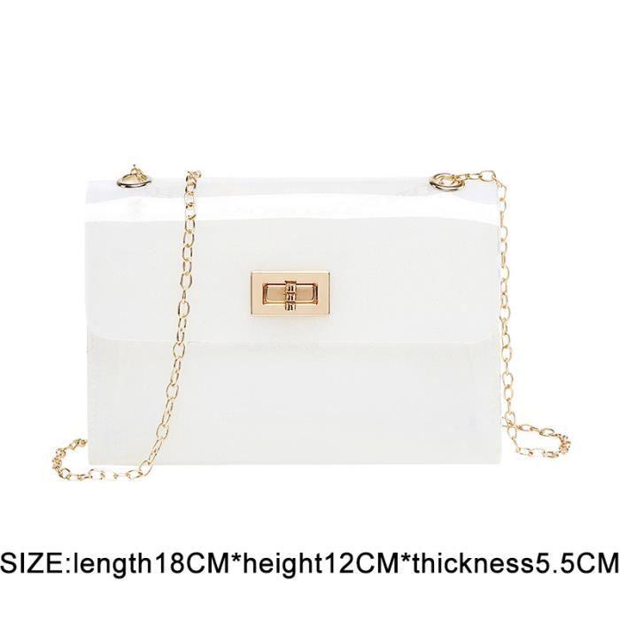 SAC A DOS,Femmes sac à dos Transparent pour enfant Mini petit sac à dos PVC gelée claire sac à dos lettre - Type jelly white