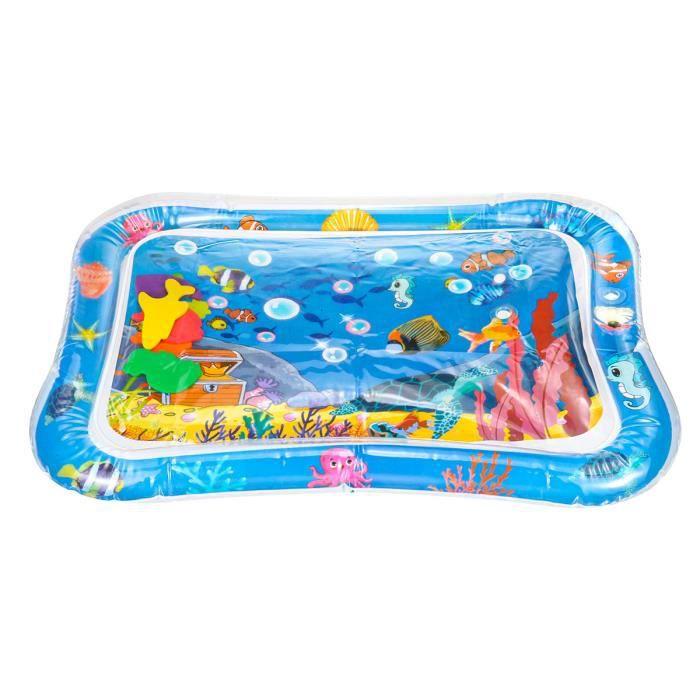 AVANC Tapis d'eau Gonflable Jeux Bébé 66x50cm bleu