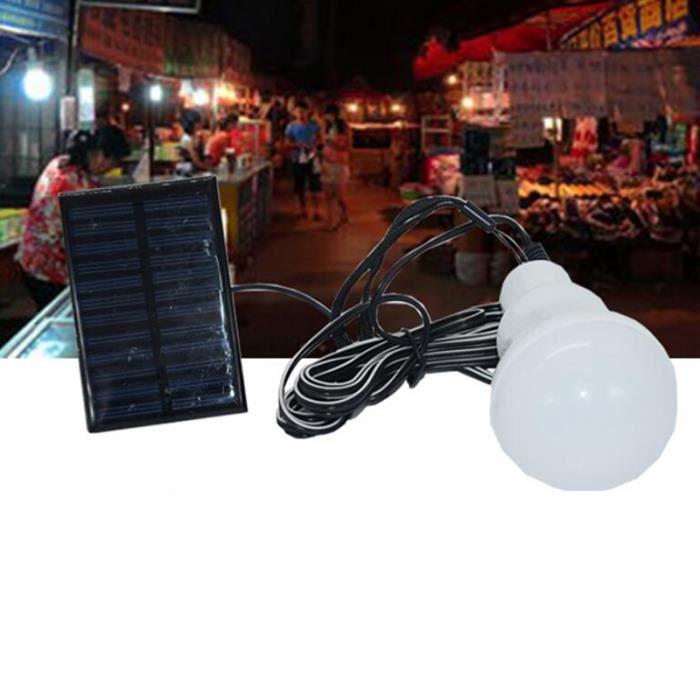 RE5310 Lampe solaire alimenté Portable Led ampoule lumière solaire Led éclairage panneau solaire Camp tente nuit pêche lumière ext