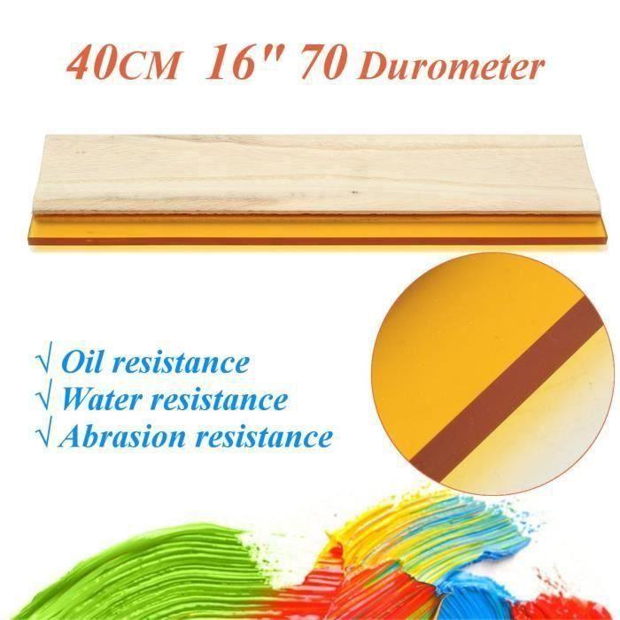 40cm Squeegee 70Durometer Racle Racloir Grattoir Lame Pr Impression Sérigraphie L28044