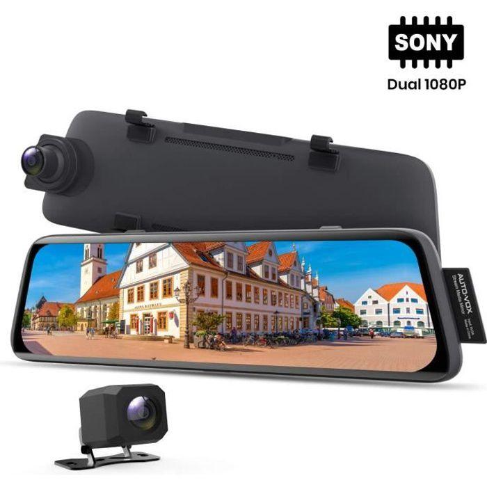 AUTO-VOX 1080P Dashcam avec Sony Sensor,Vision Nocturne, Rétroviseur à Ecran Tactile de 9,35 Pouces avec Caméra de Recul