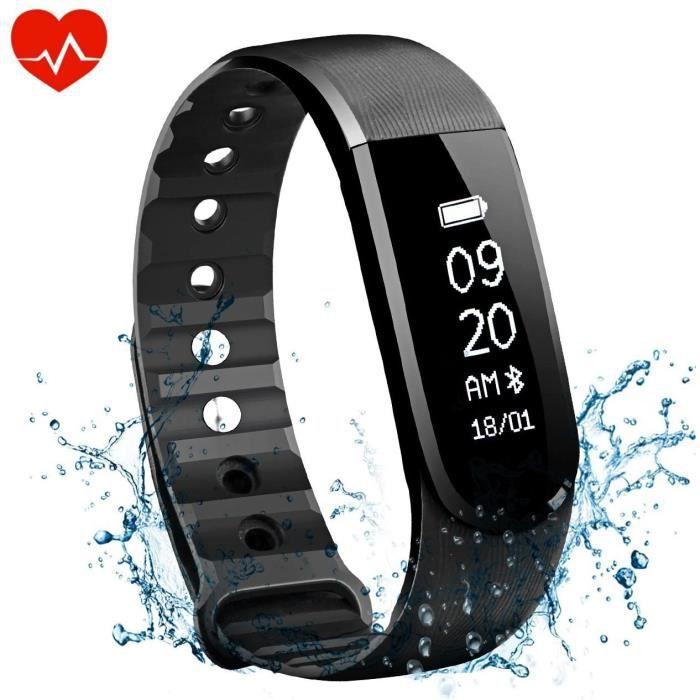 Bracelet d'activité Cardiofréquencemètre Bracelet Connecté Sport Avez Suivi de Fréquence Cardiaque Smart Band Bluetooth 4.0 avec Pod