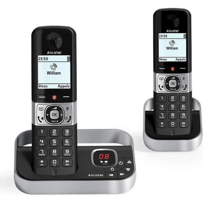 Téléphone sans fil DECT Alcatel F890 voice duo noir EU Telephone sans fil repondeur avec combine supplementaire. Blocage d'appel8