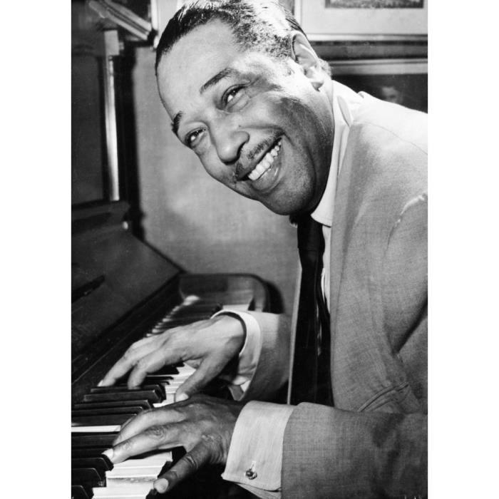 Poster Affiche Duke Ellington Piano Portrait Jazz Classique 61cm x 85cm
