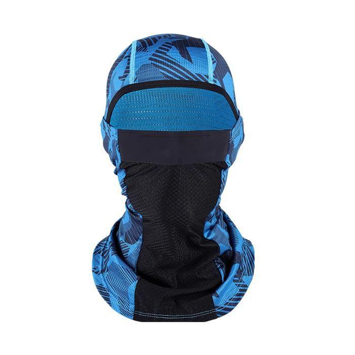 SEAU A GLACONS -Cyclisme masque solaire de protection en soie de glace (bleu)