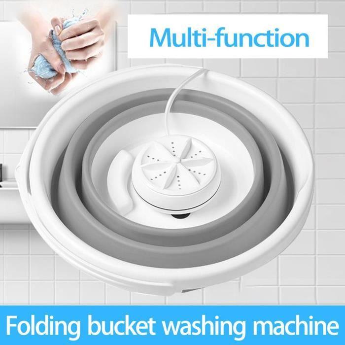 Mini machine à laver 10L Cavitation ultrasonique haute fréquence L'intelligence artificielle intercross Gris