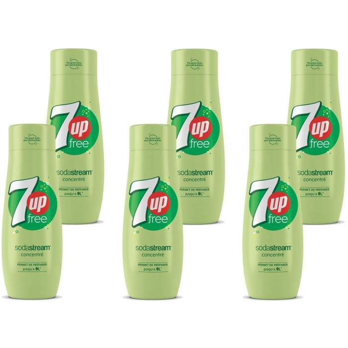 SODASTREAM Concentré 7UP FREE 440ml Lot de 6