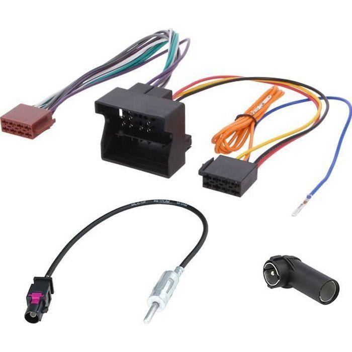 Kit Adaptateurs pour Citroen Peugeot pour installer un autoradio avec prises ISO