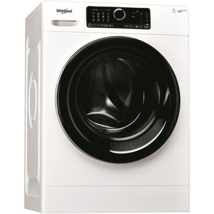 Lave-linge hublot WHIRLPOOL - ZENDOSE8 - 8 kg - Classe A+++ - 1400 tours/min - Blanc