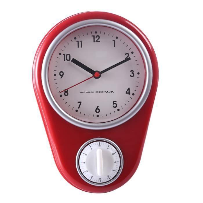 Minuterie D Alarme Horloge Murale Pour Cuisine Rouge Achat