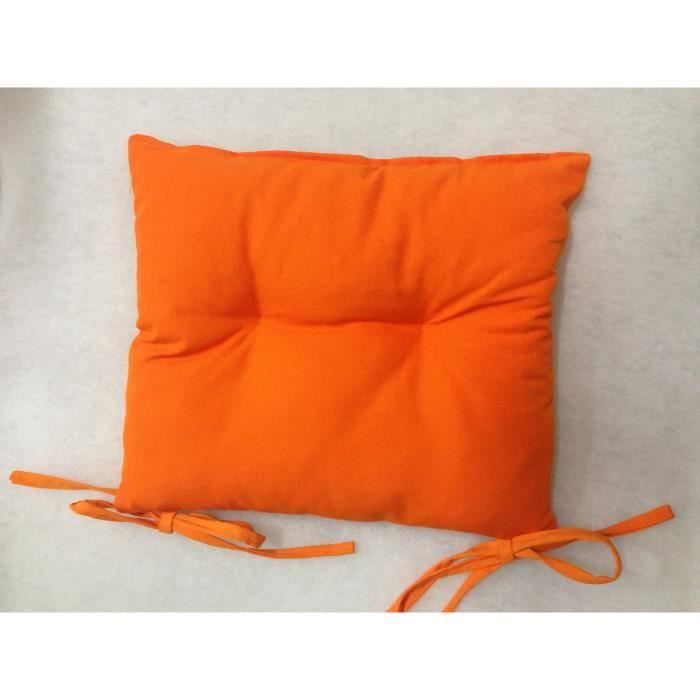 coussin de chaise 40x40 haute qualit 840gr orange achat. Black Bedroom Furniture Sets. Home Design Ideas