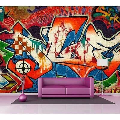 sticker mural geant graffitis tag achat vente sticker mural geant graffitis tag pas cher. Black Bedroom Furniture Sets. Home Design Ideas