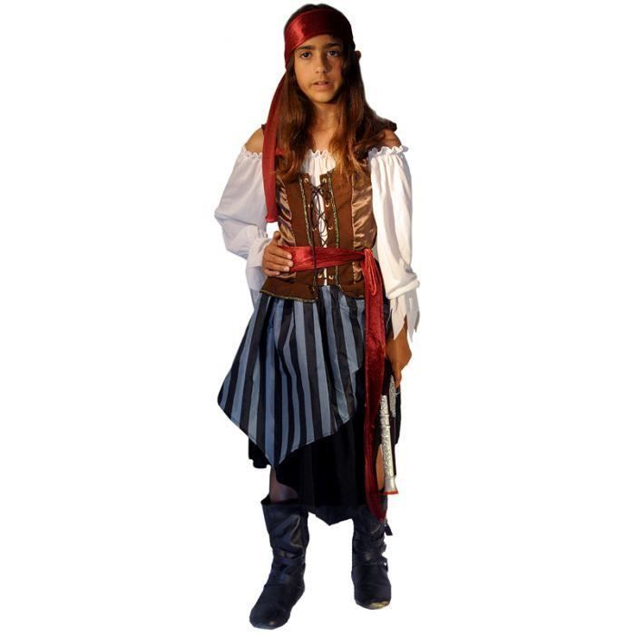 d guisement pirate fille taille 10 12 ans achat vente. Black Bedroom Furniture Sets. Home Design Ideas