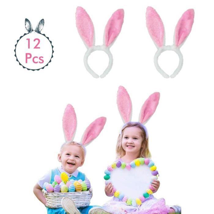 LAPIN ROSE oreilles serre-tête-Costume Robe Fantaisie Enterrement Vie Jeune Fille Lapin de Pâques