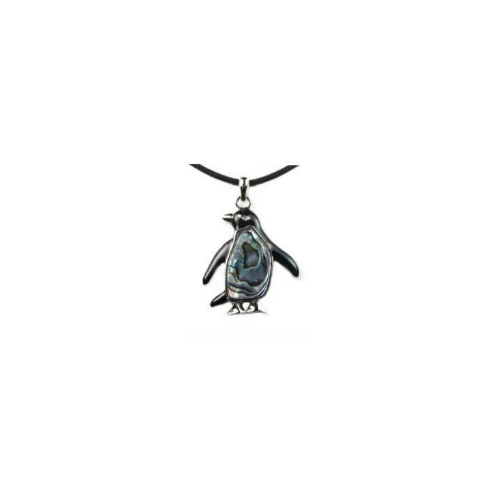 SAUTOIR ET COLLIER Pendentif Abalone Pingouin - Blue Pearls