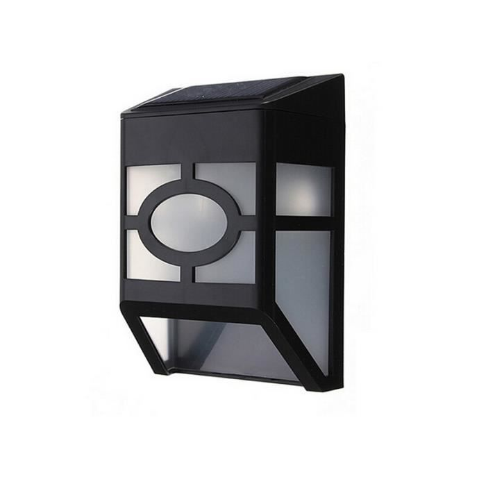 ip65 1 6w lampe led murale energie solaire tanche pour chemin de jardin cl ture couloir blanc. Black Bedroom Furniture Sets. Home Design Ideas