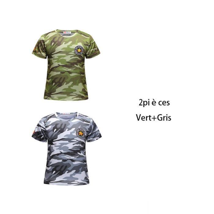 Camouflage Homme Été T-shirts à manches courtes Tie-TEE COL V Fitness T-shirt Love
