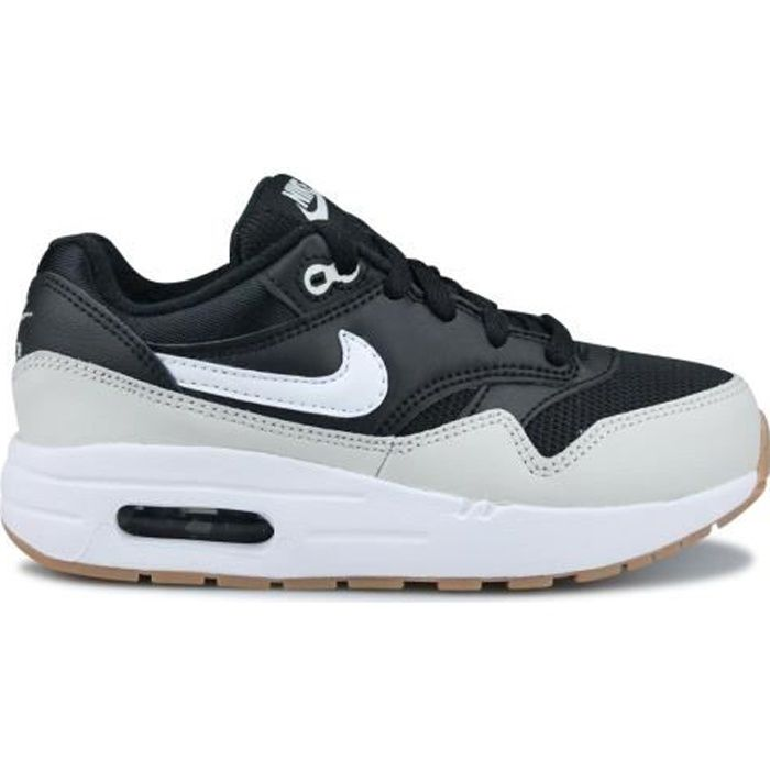 sale retailer 417df 5e89b Basket Nike Air Max 1 Enfant Noir 807603-011